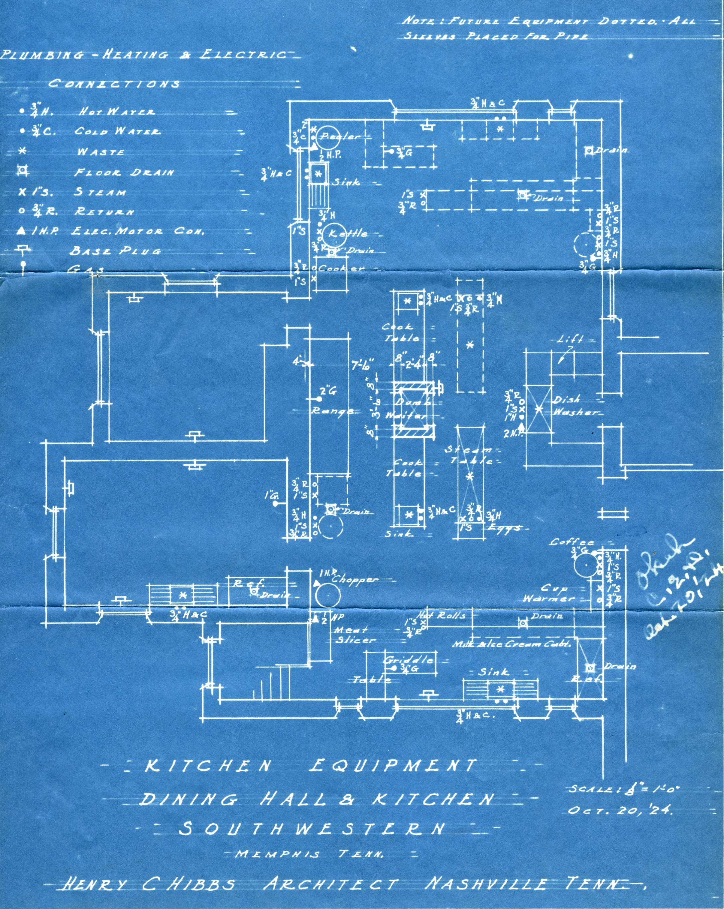 Architecture blueprints Royalty Free Dining Hall Plans 1924bjpg 123rfcom Rhodes College Digital Archives Dlynx Dining Hall Architectural