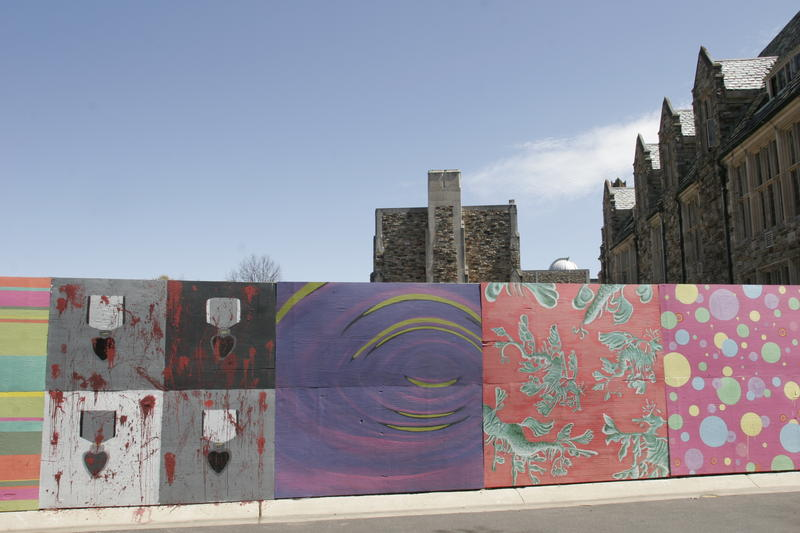 Rhodes college digital archives dlynx panoramic views for Construction site wall mural
