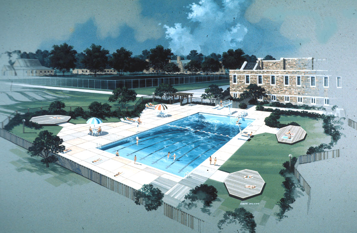 Rhodes College Digital Archives Dlynx Drawing Of The Future Alburty Swimming Pool