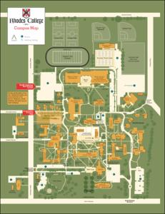 Rhodes College Digital Archives Dlynx Rhodes Construction Campus Map