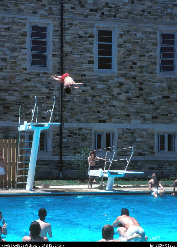rhodes college digital archives dlynx diver at the alburty pool. Black Bedroom Furniture Sets. Home Design Ideas